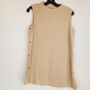 Easiwear by Chico's mock neck terry tunic size S